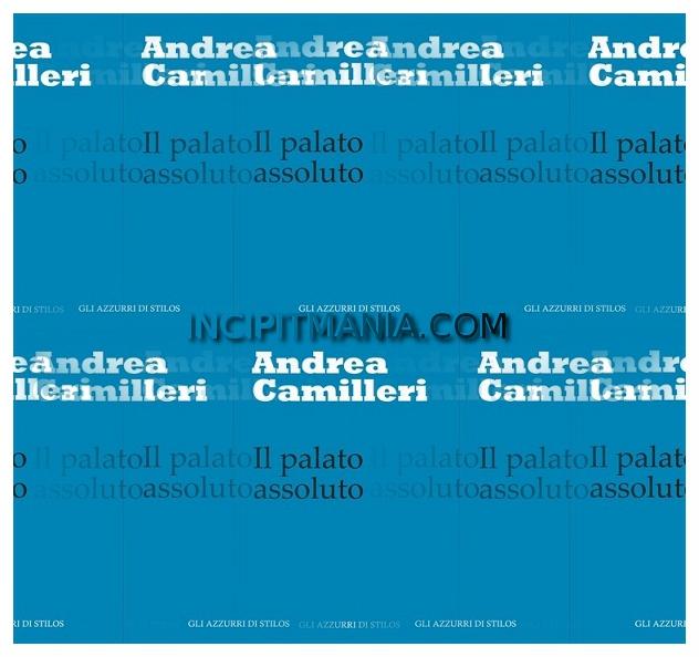 Copertina di Il palato assoluto di Andrea Camilleri
