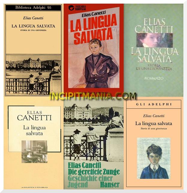 Copertine di La lingua salvata di Elias Canetti
