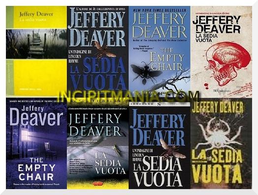 Copertine di La sedia vuota di Jeffery Deaver