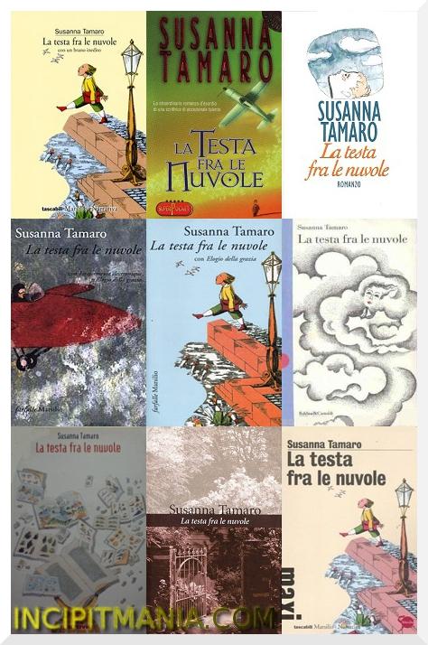 Copertine di La testa fra le nuvole di Susanna Tamaro