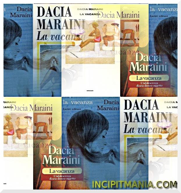 Copertine di La vacanza di Dacia Maraini