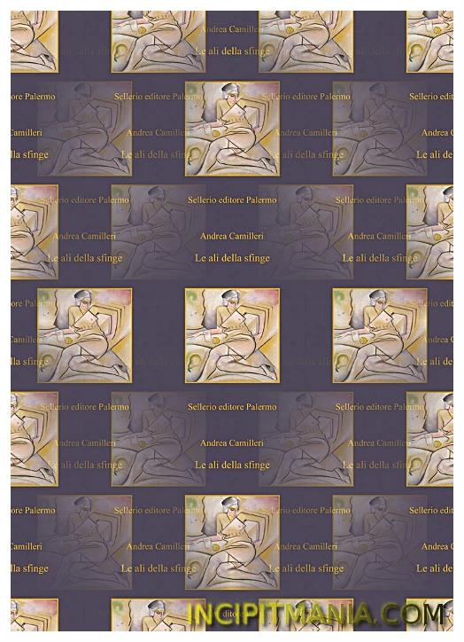 Copertina di Le ali della sfinge di Andrea Camilleri