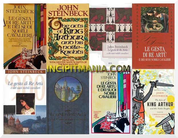 Copertine di Le gesta di Re Artu e dei suoi nobili cavalieri di John Steinbeck