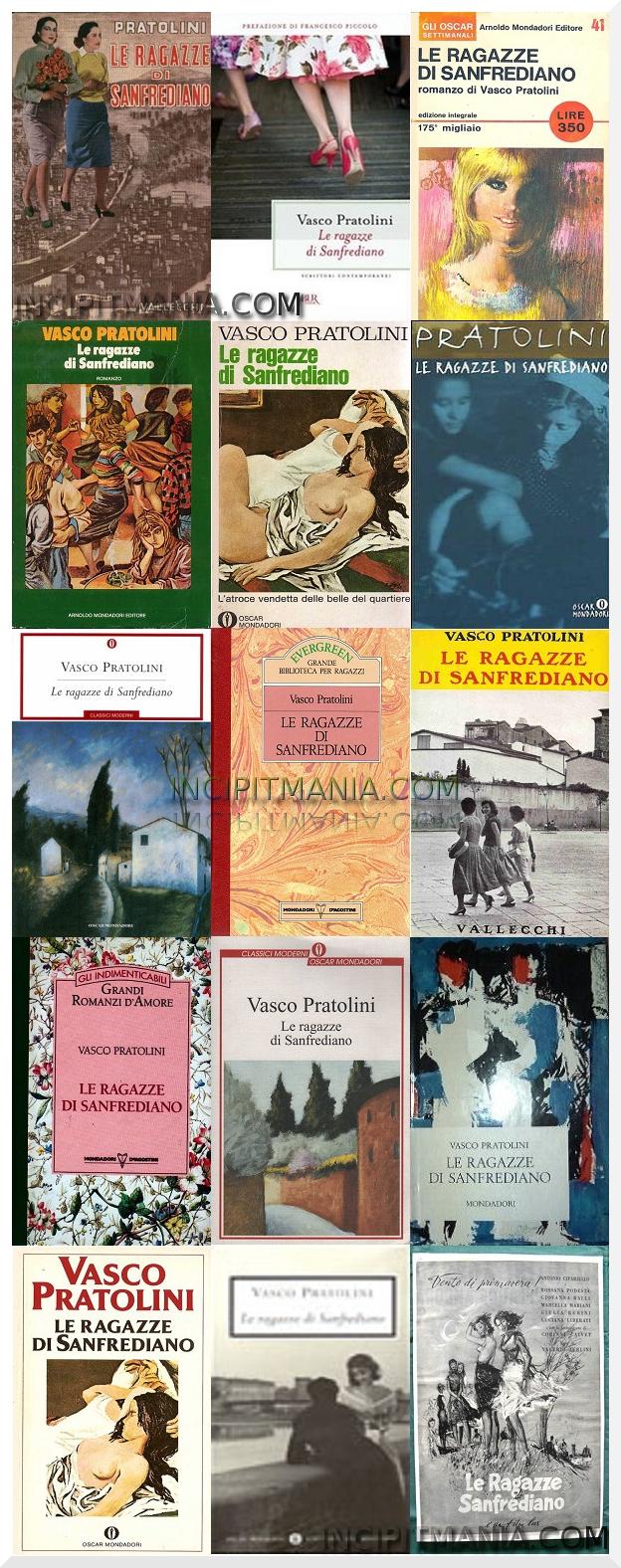 Copertine di Le ragazze di Sanfrediano di Vasco Pratolini