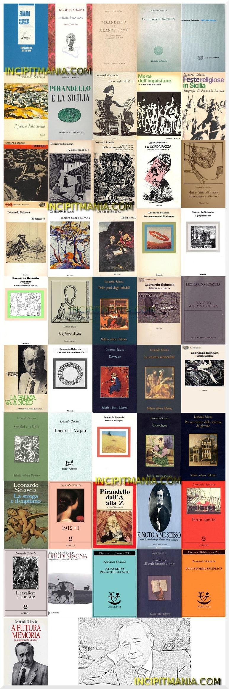 Copertine della bibliografia di Leonardo Sciascia