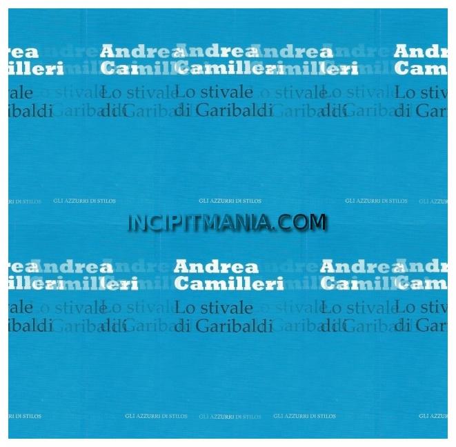 Copertina di Lo stivale di Garibaldi di Andrea Camilleri