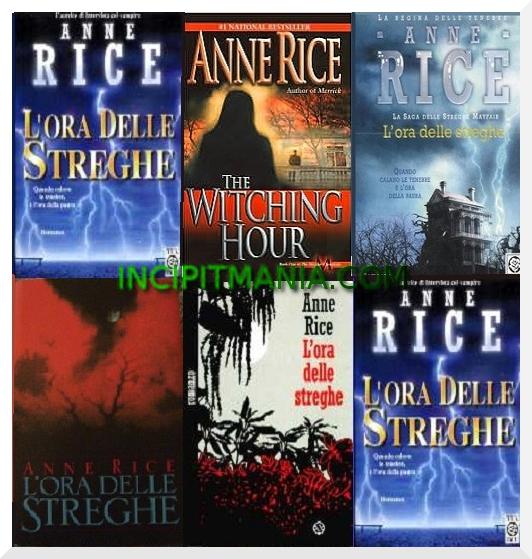 Copertine di L'ora delle streghe di Anne Rice