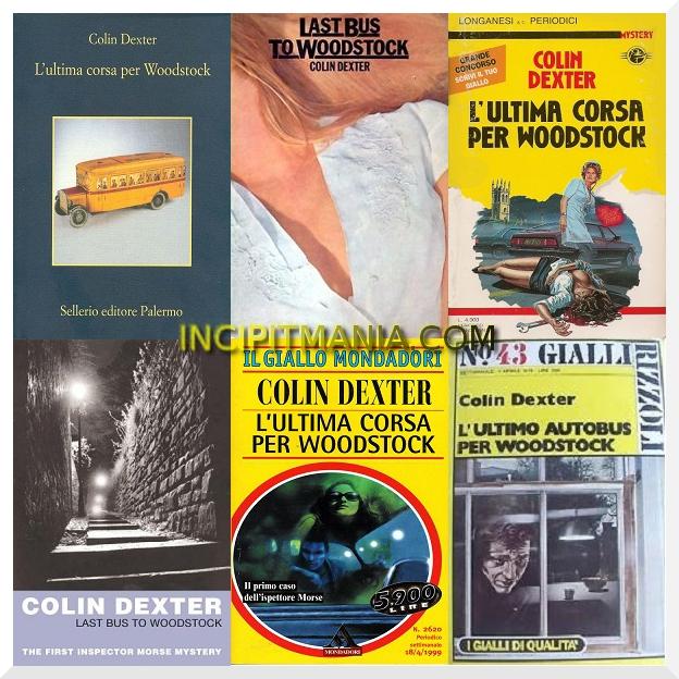 Copertine di L'ultima corsa per Woodstock di Colin Dexter