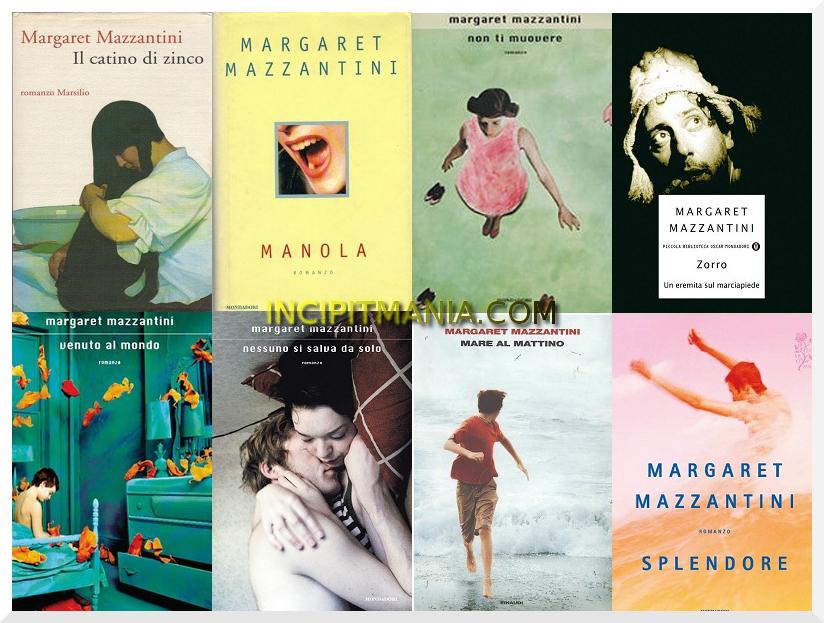 Copertine della bibliografia di Margaret Mazzantini