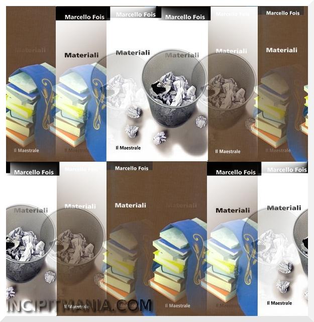 Copertine di Materiali di Marcelli Fois