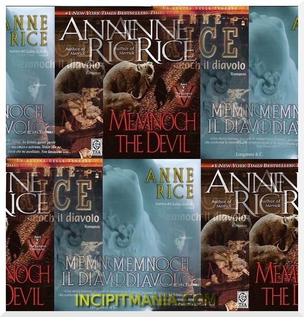 Copertine di Memnoch il diavolo di Anne Rice