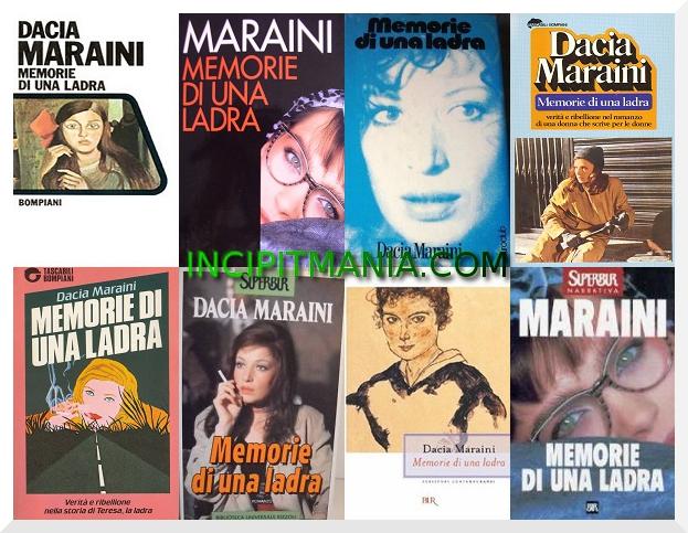 Copertine di Memorie di una ladra di Dacia Maraini