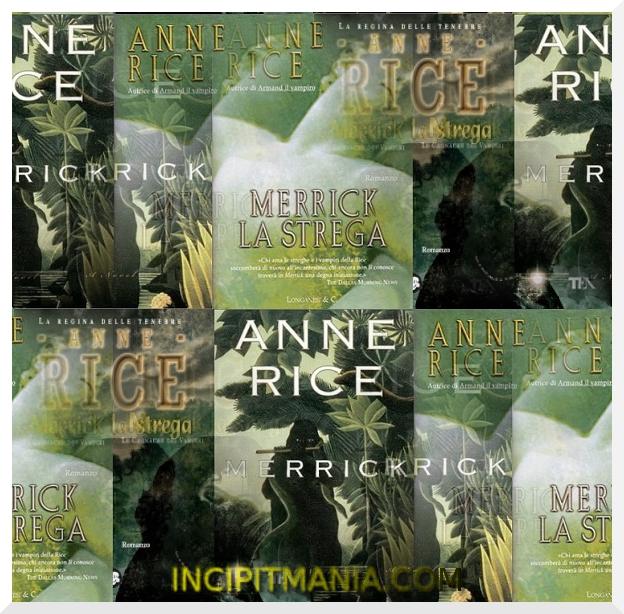 Copertine di Merrick la strega di Anne Rice