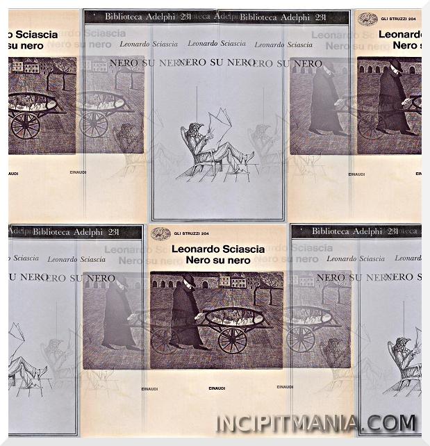 Copertine di Nero su nero di Leonardo Sciascia
