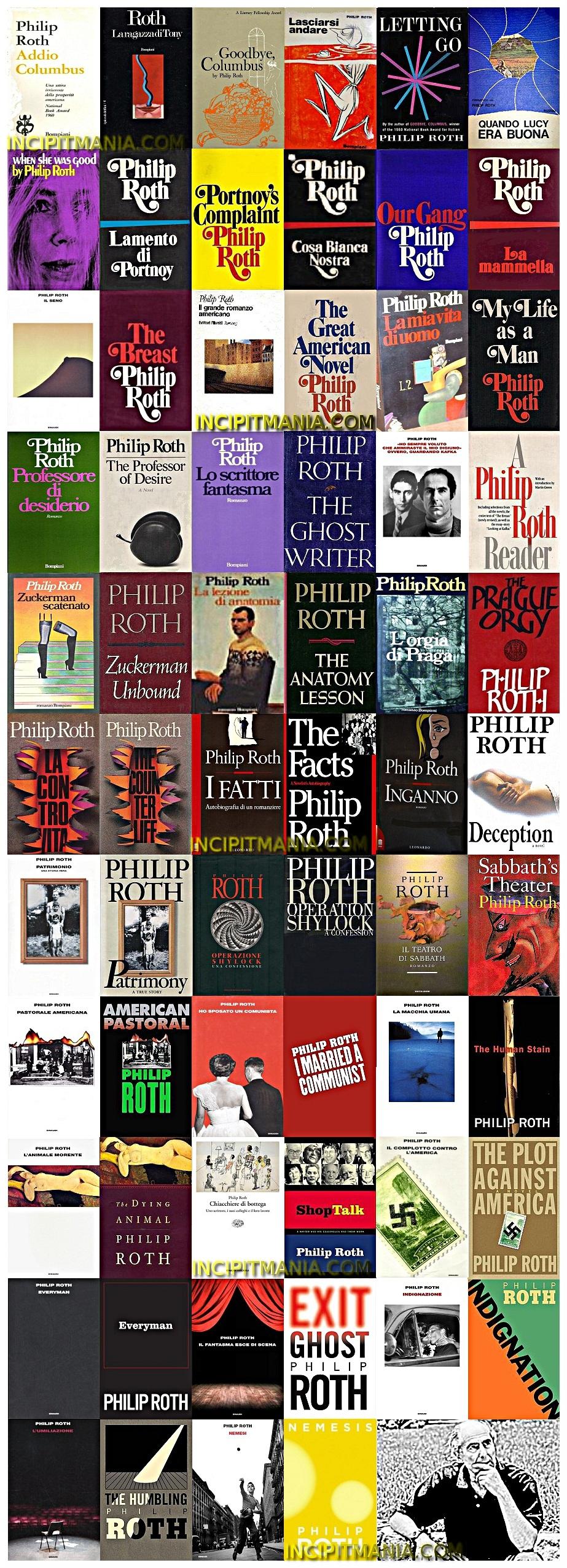 Philip Roth - Opere - Bibliografia
