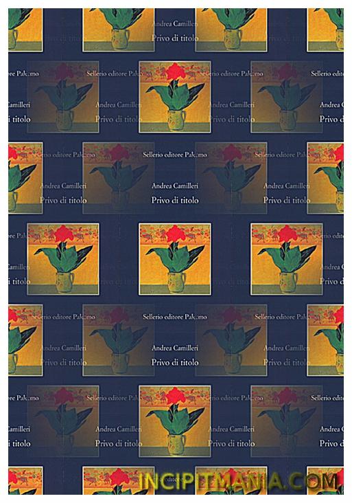 Copertina di Privo di titolo di Andrea Camilleri