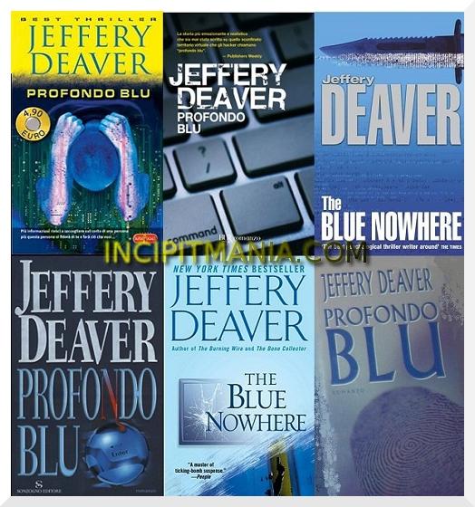 Copertine di Profondo Blu di Jeffery Deaver
