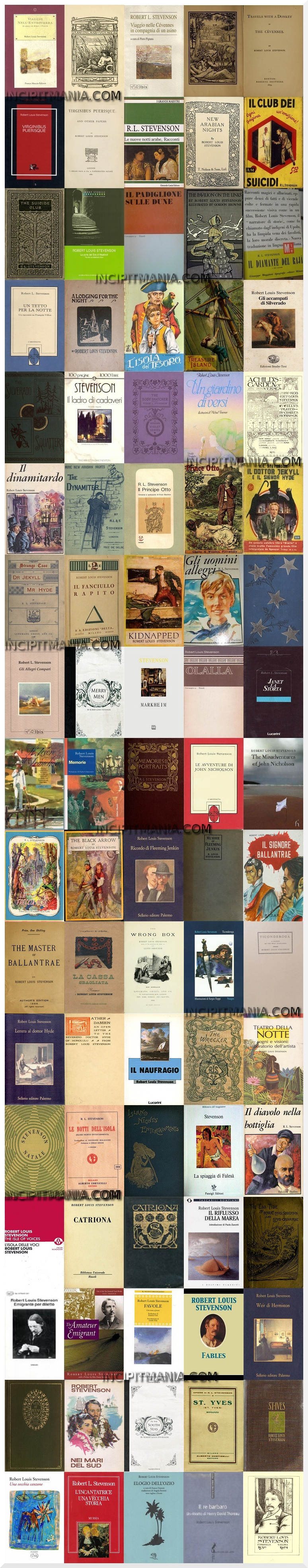 Robert Louis Stevenson - Opere - Bibliografia