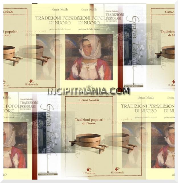 Copertine di Tradizioni popolari di Nuoro di Grazia Deledda