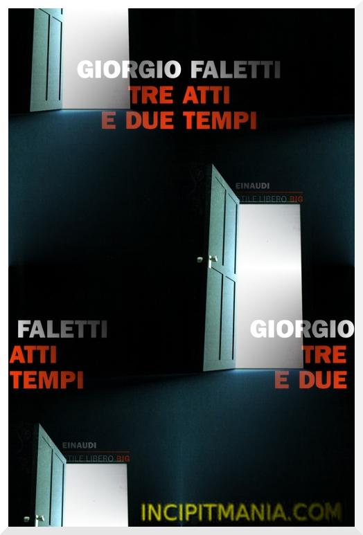 Copertina di Tre atti e due tempi di Giorgio Faletti