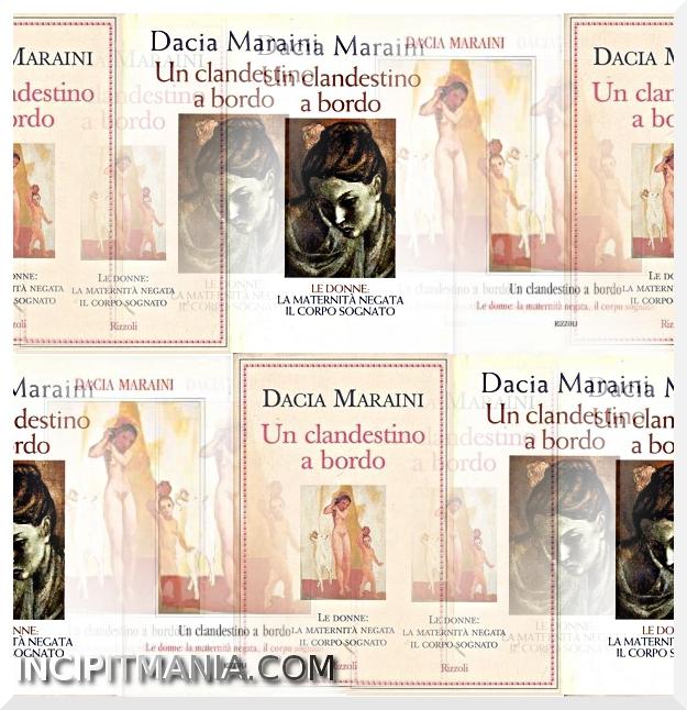 Copertine di Un clandestino a bordo di Dacia Maraini