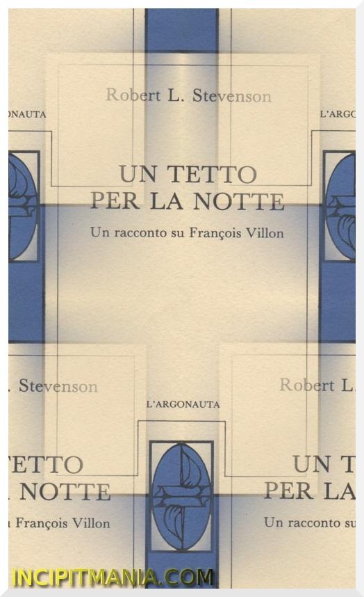 Un tetto per la notte - Robert Louis Stevenson