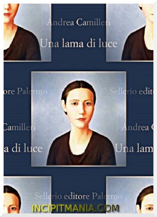 Copertina di Una lama di luce di Andrea Camilleri