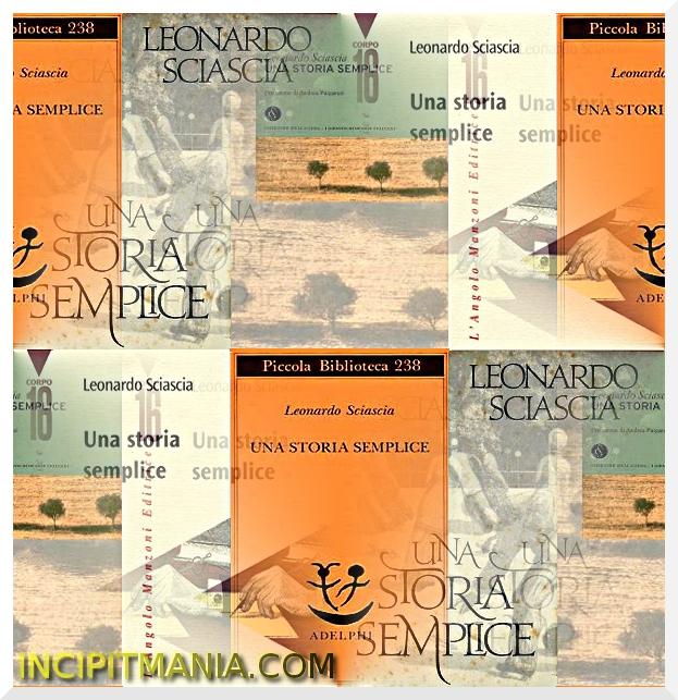 Copertine di Una storia semplice di Leonardo Sciascia