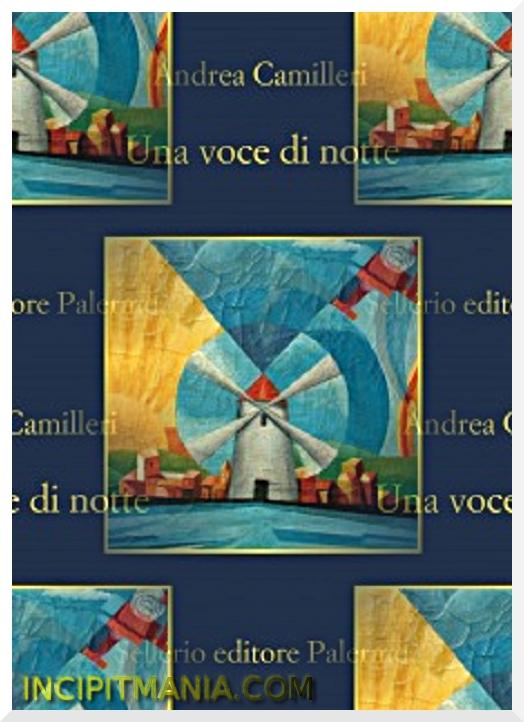 Copertina di Una voce di notte di Andrea Camilleri