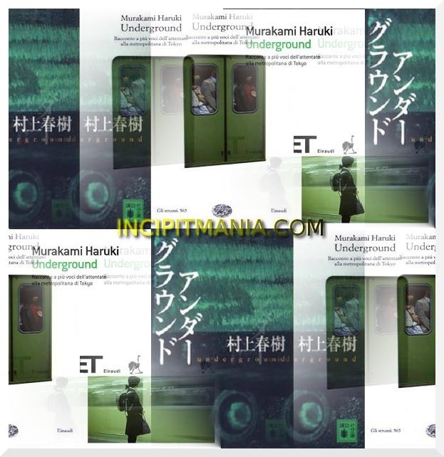 Copertine di Underground di Haruki Murakami