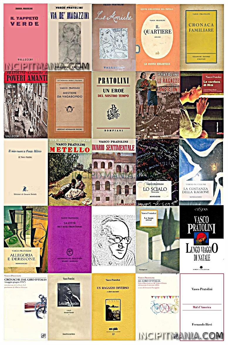Vasco Pratolini copertine della bibliografia
