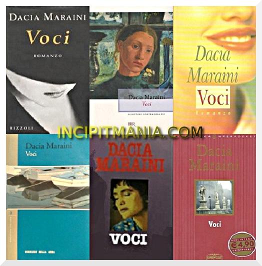 Copertine di Voci di Dacia Maraini