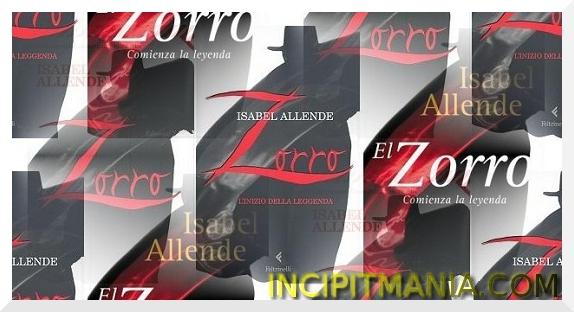 Copertine di Zorro di Isabel Allende